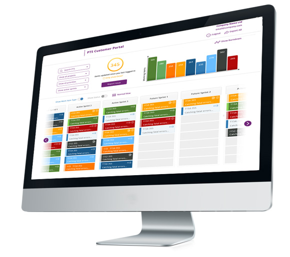 Customer Portal for Project Tracking Blueberry Consultants